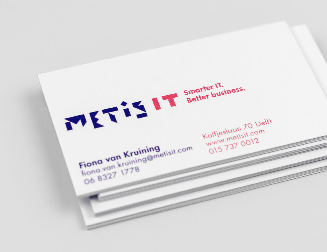 Metis it brand identity taken by storm business cards we love how print allows us to fully brand the reverse side of the card cant do that with an email reheart Gallery